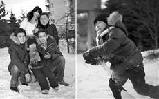 family portrait photography Toronto, winter family portrait, happy family